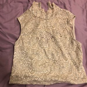 Windsor Gold Lace Crop Top